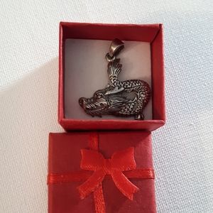 Sterling Silver Dragon pendant new in box